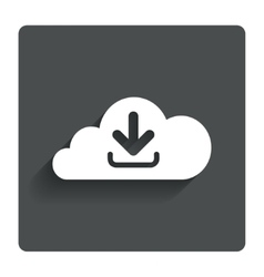 Download from cloud icon Upload button vector
