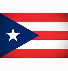 Flag of puerto rico vector