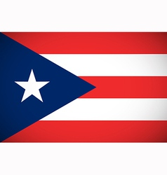 Flag puerto rico vector