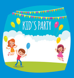 flyer or poster for a childrens party vector image