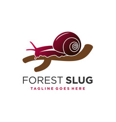 forest snail animal logo template vector image
