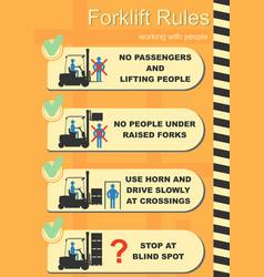 forklift safety rule vector image