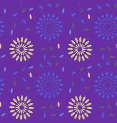 galaxy explosion seamless pattern vector image
