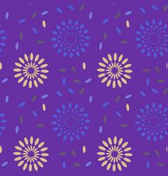 Galaxy explosion seamless pattern vector