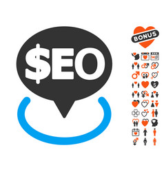 Geotargeting seo icon with lovely bonus vector
