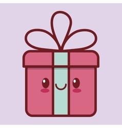 Gift box kawaii icon image vector