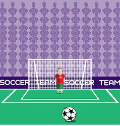 Goalkeeper in Flat Style Standing in a Goal vector image