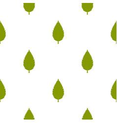 Green hornbeam leaf pattern seamless vector