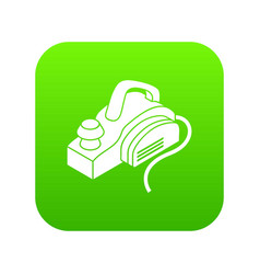 hand power tool icon green vector image