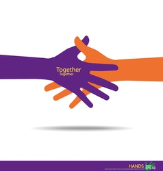 Handshake Teamwork Hands Logo vector
