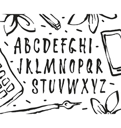 Handwritten brush font vector