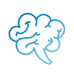 Human brain mind or intelligence icon vector