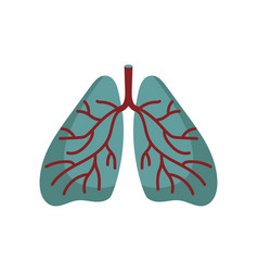 human lungs isolated icon vector image vector image