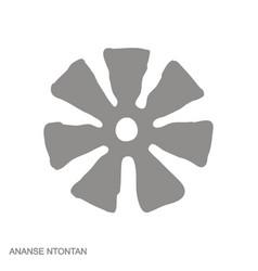 Icon with adinkra symbol ananse ntintan vector