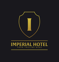 imperial hotel logo and emblem logo vector image