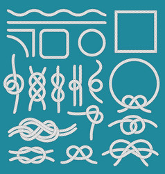 marine rope knot ropes frames cordage knots and vector image