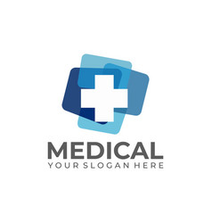 medical logo template stock vector image