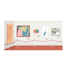 Modern art gallery semi flat vector