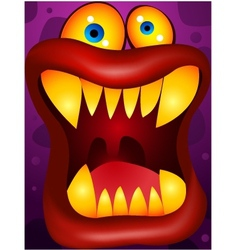 Monster cartoon vector image