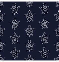 Nautical pattern with turtles vector