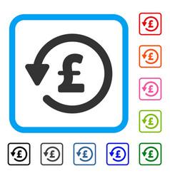 Pound rebate framed icon vector