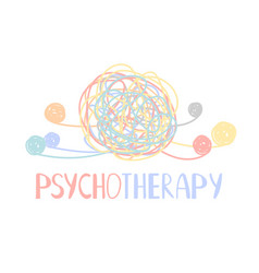 Psychotherapy abstract color tangle of mental vector