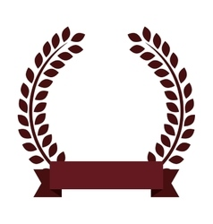 ribbon wreath label design vector image