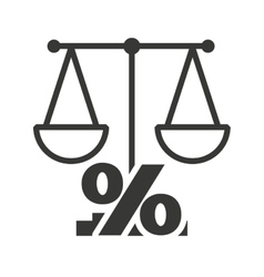 scale balance with economy icon vector image