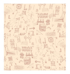 Scribbles pattern vector
