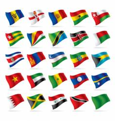 set of world flags vector image