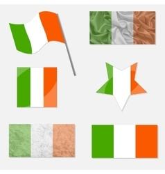 Set with Flags of Ireland vector