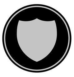Shield black coin vector
