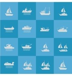 ship or boat emblem image vector image