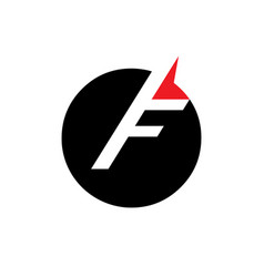sign of the letter f vector image