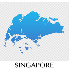 Singapore map in asia continent desig vector