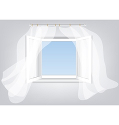Sky in window vector