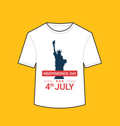 t-shirt with liberty statue american independence vector image
