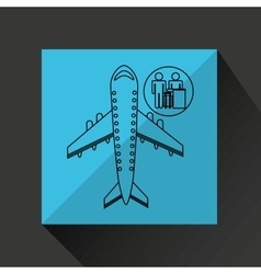 Travel flying concept chec in airport design vector