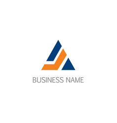Triangle company business logo vector