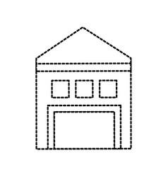 warehouse building exterior commercial empty vector image