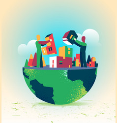 We can build together our custom world vector