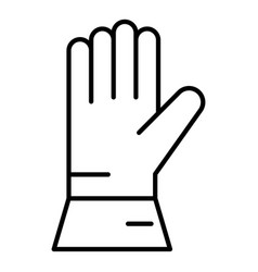 Welder glove icon outline style vector