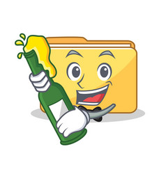 With beer folder character cartoon style vector