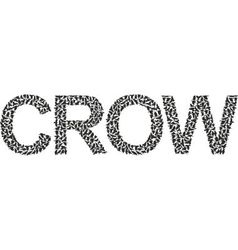 word crow from a Ffock of crows vector image