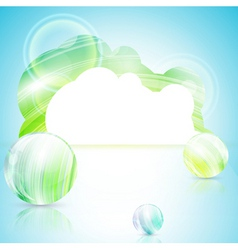 bright template vector image vector image