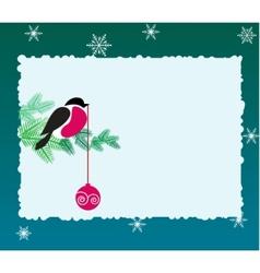bullfinch bird on winter background vector image
