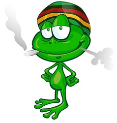 jamaican frog cartoon vector image vector image