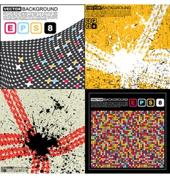 Set of four abstract background vector image vector image