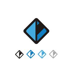 square letter c logo vector image