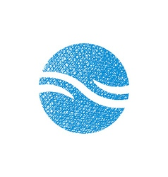 Wave water icon abstract icon symbol with hand vector image